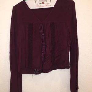 pacsun purple blouse